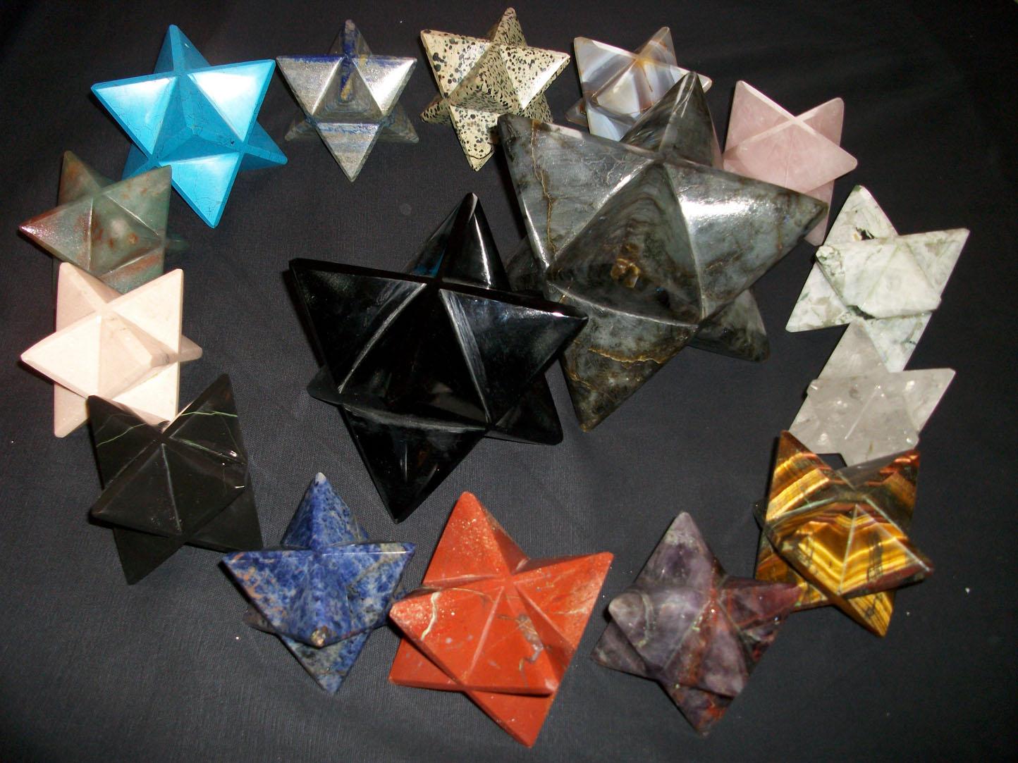 Merkabas de cristaux et minéraux